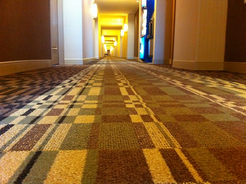 Standard issue migraine-inducing hotel carpet