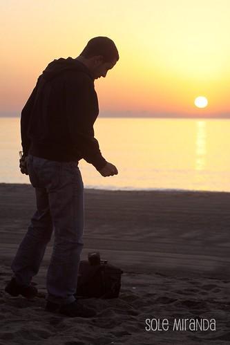 Amanecer playa Sole octubre 2010-1