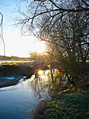 Abbey Grounds (ORIONSM) Tags: water abbey sunrise reflections national trust lacock