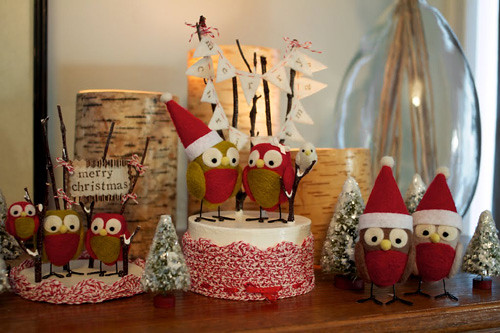 snowy owls christmas decorations