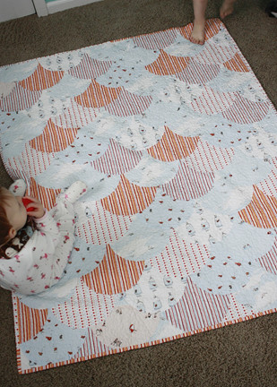 Scallop Quilt finished