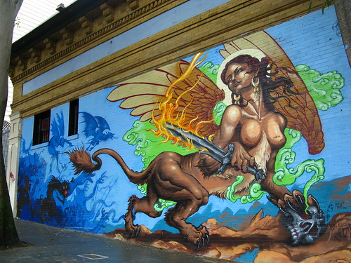 What's up with all the Dungeons and Dragons murals in the Haight?