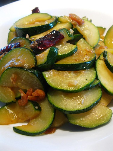 Singlish Swenglish Zucchini Stir-Fry with Dried Shrimps