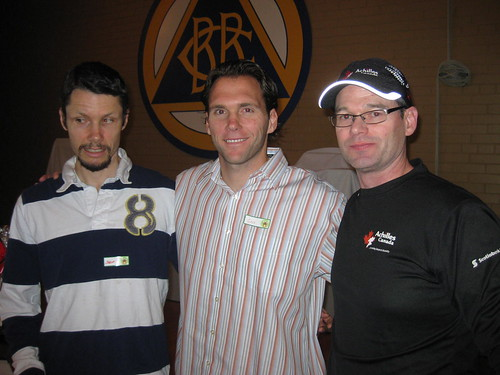 Achilles Track Club Christmas Party with Jason Dunkerley, Greg Dailey, Brian Mclean