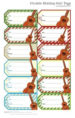 Papercraft Ukulele Gift Tags