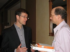 Paul Dunay interviewing Chip Heath at MarketingProfs Conference