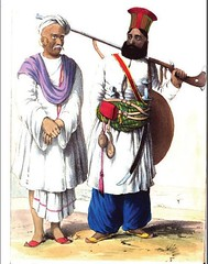A Balochi soldier and a Hindu trader of Sindh (msb1606) Tags: pakistan people history soldier asia dress culture hindu sind sindh trader 1843 subcontinent attire sindhi balochi