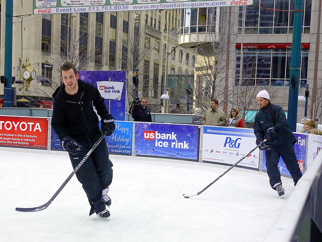 Cyclones hockey scrimmage