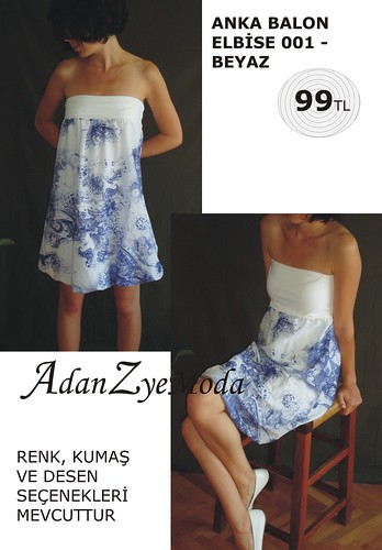 Anka Balon Elbise 001 white