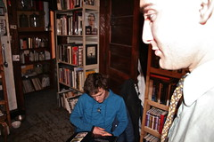 ROBERT READING--AARON AS A GHOST (louisbickett) Tags: men boys studio lexington ky books artists tats archivelouiszoellarbickett louiszoellarbickettii aaronmichaelskolnick robertweickel