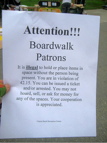Ocean Front Walk Vendor Notice
