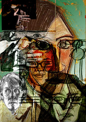 Iconography collage (Demanda88) Tags: selfportrait picasso charleswells amandamoran manupombrol