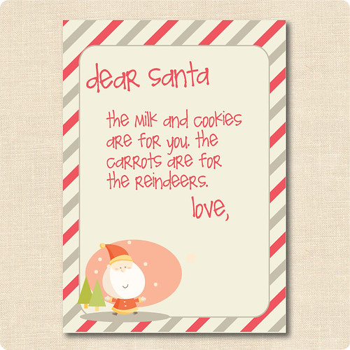 Free Letter To Santa - Pre-Made