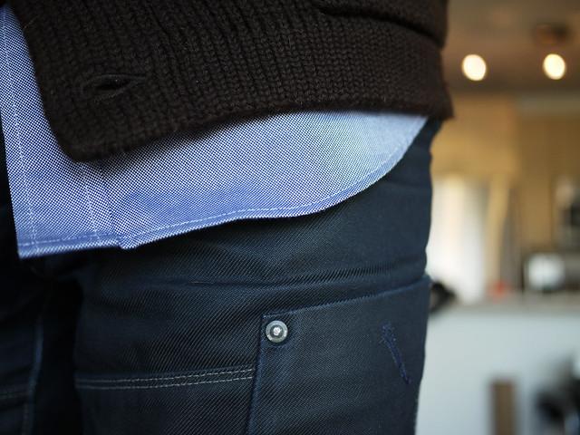 layering brown, blue & black before #walkingtoworktoday