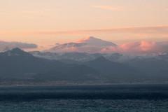 L'Etna en rose (ondaeoliana) Tags: winter sea italy cloud sun snow rose dawn volcano italia mare nuvola alba rosa neve sicily sole inverno etna sicilia vulcano flickraward