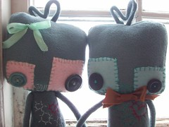 true love (tareami) Tags: cute love nerd toy robot stuffed soft geek handmade buttons bowtie felt plush bow kawaii plushie ribbon fleece cogs gears geekery stuffie feltie lovebots
