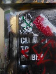 11/8/2010 Free Wall (sixheadedgoblin) Tags: stencil spray publicart olympiawashington freewall justinbeiber