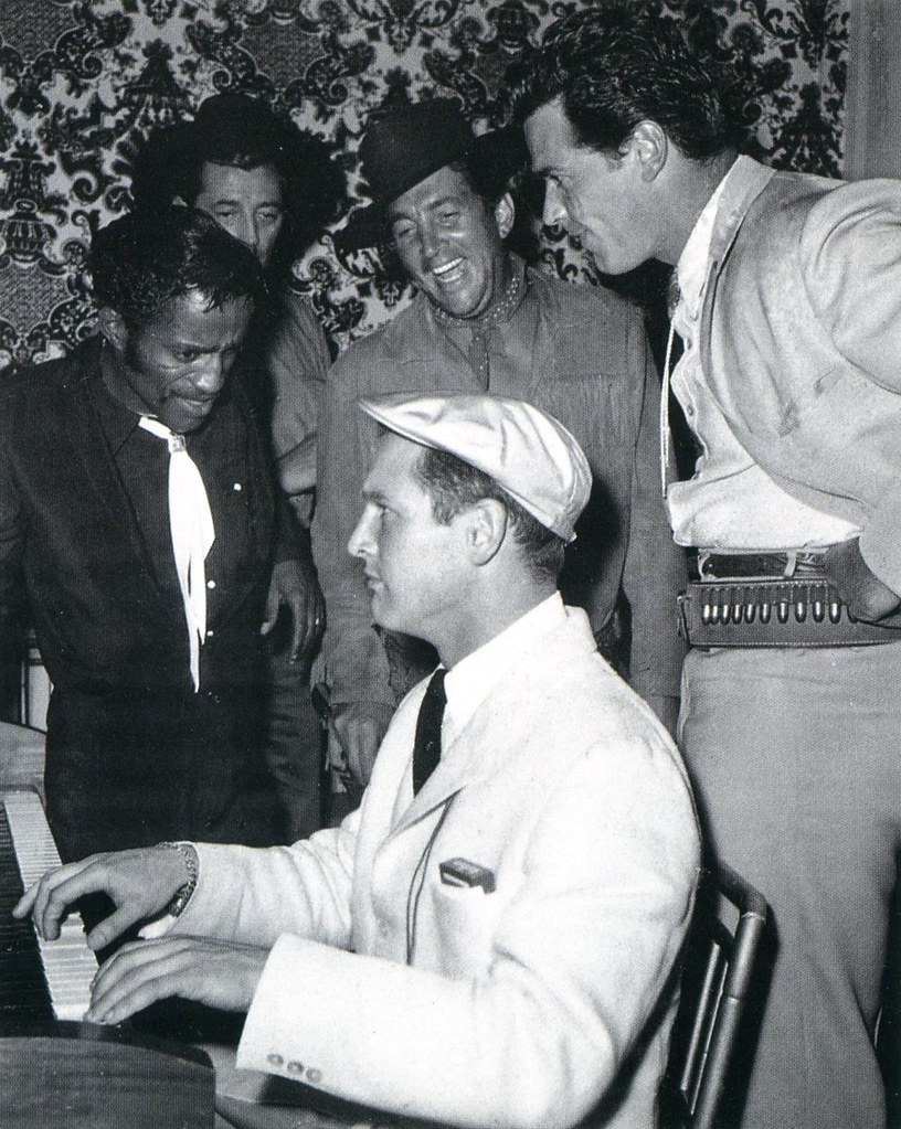 Sammy Davis Jr, Robert Mitchum, Dean Martin, James Garner and Paul Newman