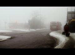 The everyday struggle (*Kicki*) Tags: street people mist snow cold bus fog trafficlight sweden stockholm sdermalm schweden foggy slussen sverige suede 2010 dimma kicki svenskaamatrfotografer kh67