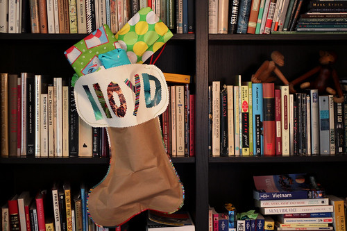 Homemade Paper Stocking... Stuffed!