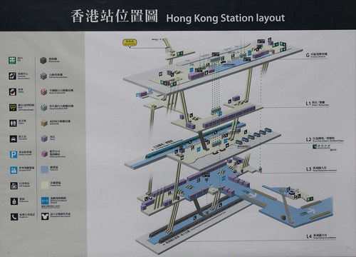 Diagram showing the platform arrangement at Hong Kong station