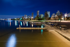 (Pawel Papis Photography) Tags: street new city travel bridge light vacation sky urban reflection building tree tower tourism water lamp beautiful beauty car skyline architecture night skyscraper river evening harbor pier boat twilight ramp cityscape waterfront view apartment dusk parking famous scenic australia tourist pole business wharf moonlight seaport goldcoast