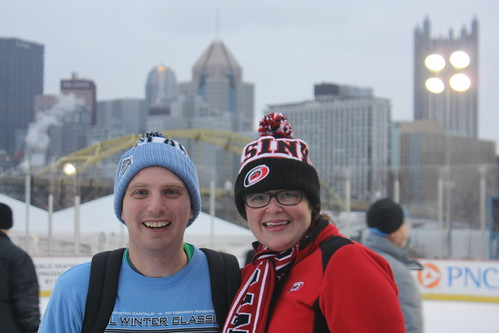 Maggie and I at the Winter Classic Community Rink