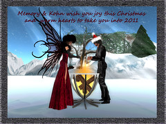 Christmas card (Memfairy) Tags: leather landscapes wings romance secondlife avid fairies kohn oubliette aleida materialsquirrel sfdesigns eshi eviescloset emocity