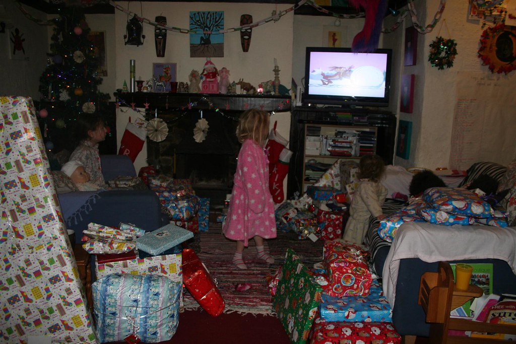 presents? we're watching the TV!!