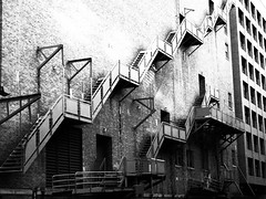 bw stairs (B Photography TX) Tags: white black stairs fire stair escape staircase staircases