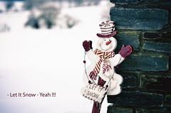 Let It Snow (Monsieur Nounou) Tags: red white snow snowman figure ne