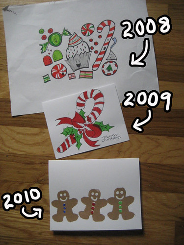 3 years of my Christmas cards