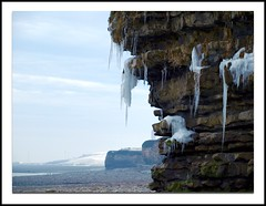 Icicles ~ Rhoose Beach (livin the dream*) Tags: winter snow cold ice beach wales coast december cliffs icicles wfc valeofglamorgan headland rhoose welshflickrcymru christmas2010 mostsoutherlypointinwales