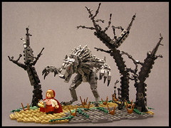 Little Red Riding Hood - 01 (Legohaulic) Tags: fairytale woods wolf lego littleredridinghood cccviii