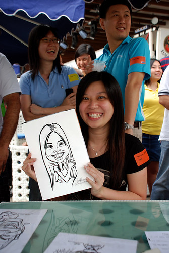 Caricature live sketching for VISA Beach Party 2010 -4
