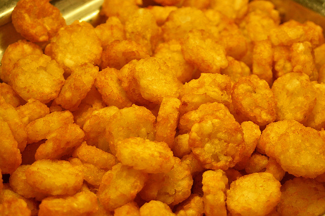 One of the best items - mini hash browns!