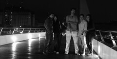 Bridge Gang (Lara Lew) Tags: street city building night lights luces noche calle edificios buenosaires downtown centro ciudad nocturna