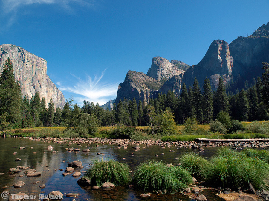 Yosemite Valley and Merced River, Yosemite, September 2010