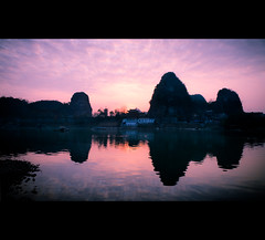 diecai hill sunset (jmarshall2010) Tags: china sunset reflection canon landscape eos li asia guilin mark hill ii 5d rive diecai cloudsstormssunsetssunrises