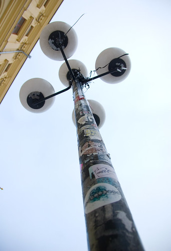 Dekorerad stolpe