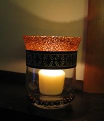 Sparkle Candle Holder_Lit