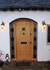 Front Door with stained glass panels fitted