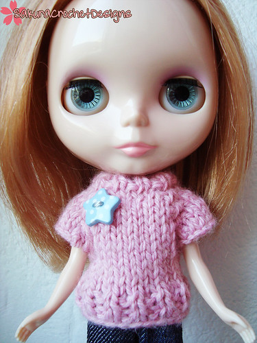 Cotton Candy Blythe sweater