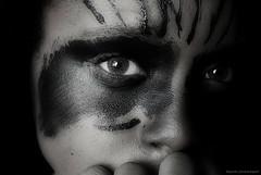 Eye Of The Bold. 7 365 (Dejenee Renee.) Tags: black green eye face fun eyes nikon paint day darkness artistic bat creative renee scared bold fright futter d3000 dejenee