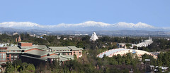 Disneyland Mountain Range (WJMcIntosh) Tags: disneyland matterhorn spacemountain bigthundermountain snowcovered sangabrielmountains disneycaliforniaadventure funwheel grandcaliforniahotel