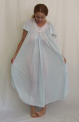 Miss Elaine Pale Blue Short Sleeved Nightgown 1 (mondas66) Tags: ruffles lace lingerie boudoir gown gowns lacy nylon nightgown sheer frilly nightgowns nightdress ruffle nightwear frill ruffled nightie lacework frilled nighties misselaine antron nightdresses frilling frillings befrilled