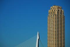 Isolated Icons (rutgerrrr) Tags: bridge skyscraper rotterdam flat toren neworleans brug lucht erasmusbrug siza wolkenkrabber
