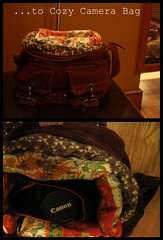 ...To Cozy Camera Bag (SewNasty) Tags: sewing camerabag projectrestyle