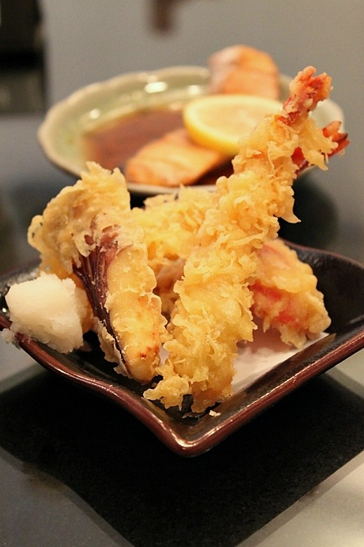 Tempura: Prawn, Sweet Potato, Eggplant, Red pepper