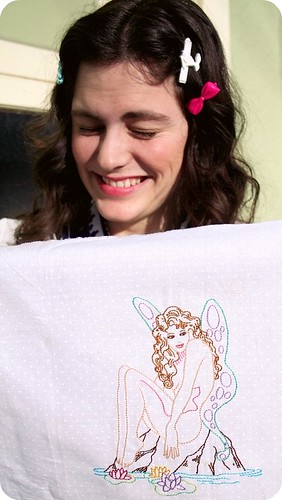 Embroidered Fairy Pin-up